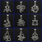 Украшения handmade. Livemaster - original item pendant zodiac sign. Silver 925 sample.. Handmade.