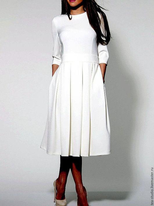 Платья ручной работы. Ярмарка Мастеров - ручная работа. Купить Платье    модель 9151. Handmade. Белый, платье, платье шелковое
