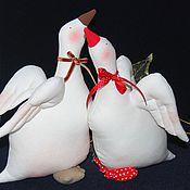 Куклы и игрушки ручной работы. Ярмарка Мастеров - ручная работа Рождественские гуси. Handmade.