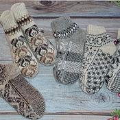 Аксессуары handmade. Livemaster - original item Woolen women`s socks with ornament. Handmade.
