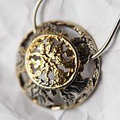 """Украшения ручной работы. Ярмарка Мастеров - ручная работа """"Полнолуние""""-серебряный кулон. Handmade."""