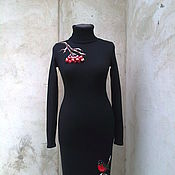 Одежда ручной работы. Ярмарка Мастеров - ручная работа платье вязаное Рябинка. Handmade.