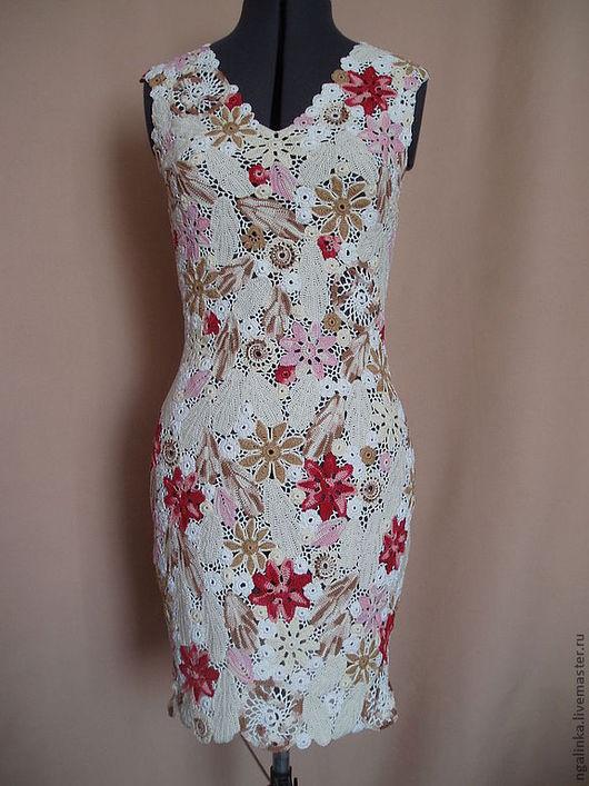 Платья ручной работы. Ярмарка Мастеров - ручная работа. Купить платье из хлопка Поле цветов. Handmade. Цветочный, платье вязаное