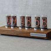 "Для дома и интерьера handmade. Livemaster - original item Nixie tube clock ""Loft IN-18"" (Bibolo) + gift box. Handmade."