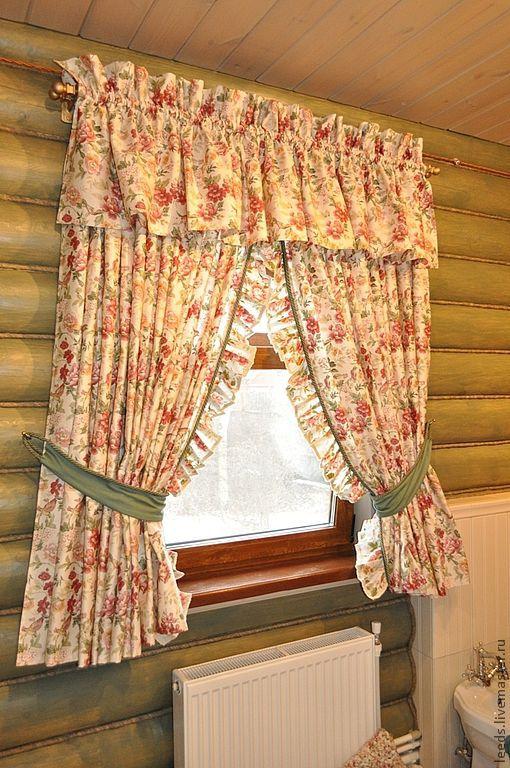 """Текстиль, ковры ручной работы. Ярмарка Мастеров - ручная работа. Купить Текстильное оформление""""Кантри"""". Handmade. Шторы, для интерьера, ванная комната"""