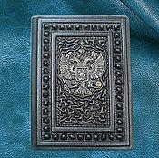 Обложки ручной работы. Ярмарка Мастеров - ручная работа Обложка на паспорт персональная из натуральной кожи. Handmade.