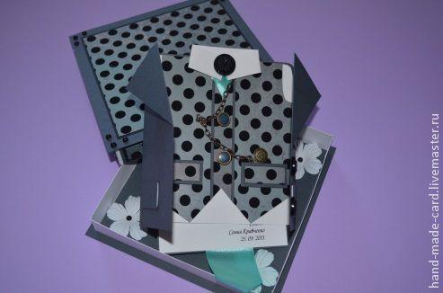 Открытки для мужчин, ручной работы. Ярмарка Мастеров - ручная работа. Купить Подарочный набор для мужчин (коробочка + открытка в виде пиджака). Handmade.