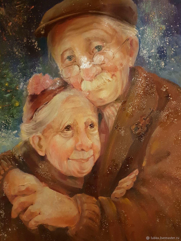 Открытка бабушка рядышком с дедушкой
