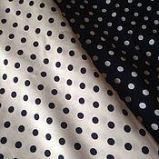 Ткани ручной работы. Ярмарка Мастеров - ручная работа ткань горох твил    т.синий НА 10.1. Handmade.