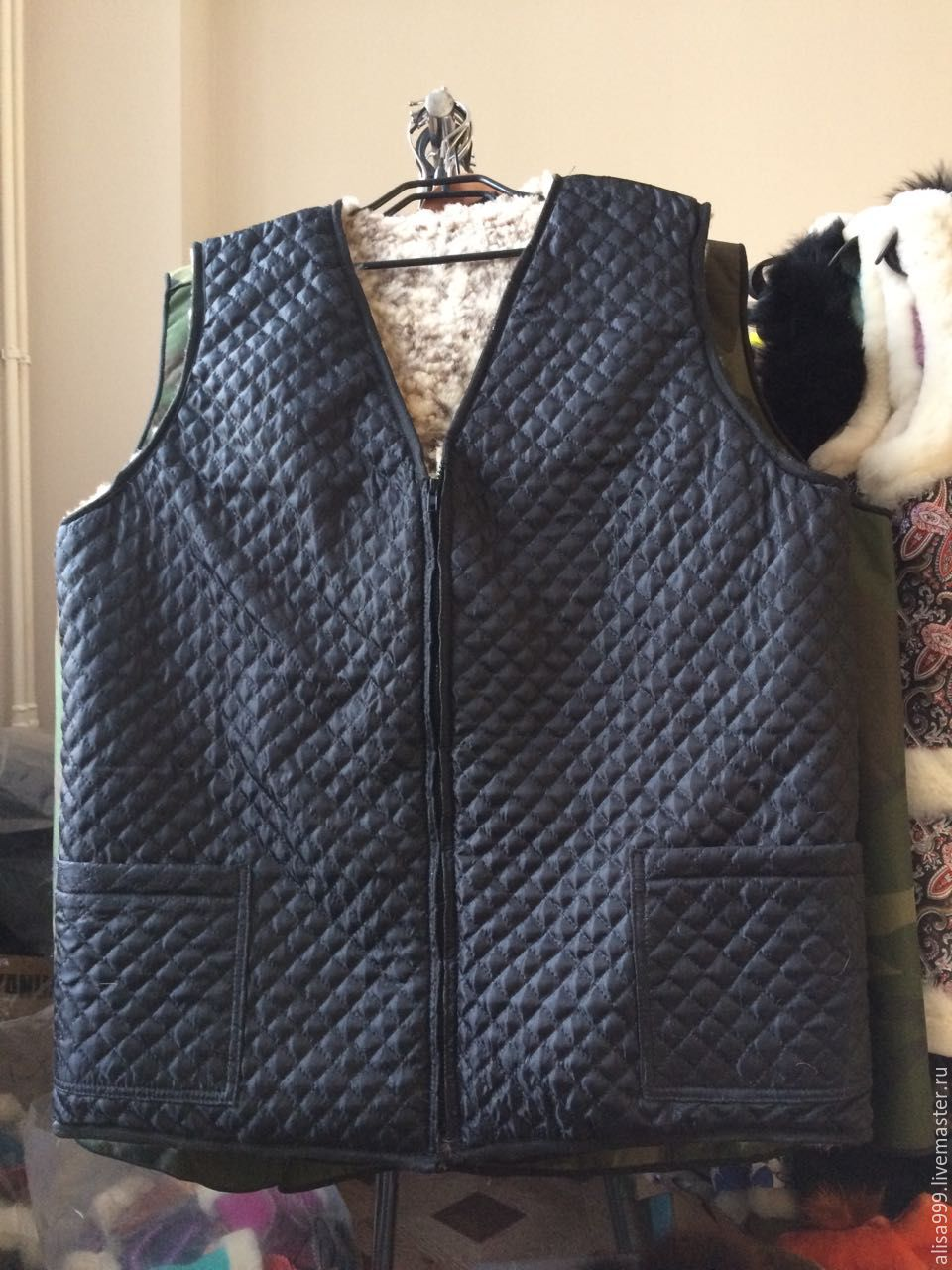 a697c82aa831 Products made of natural · Vests handmade. Men s vests made of sheepskin(Mouton).  Products made of natural ...