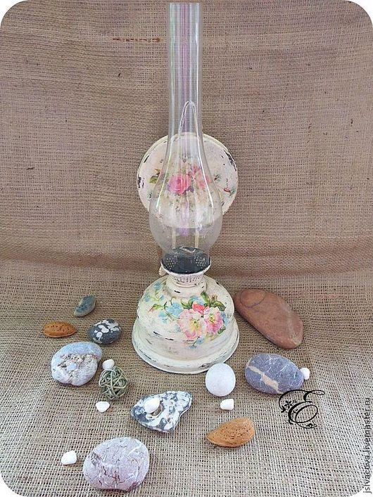 Освещение ручной работы. Ярмарка Мастеров - ручная работа. Купить Керосиновая лампа ,,На даче,,керосинка,лампа,декупаж.. Handmade.