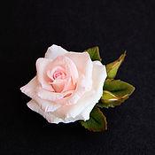 Украшения ручной работы. Ярмарка Мастеров - ручная работа Брошь с розой. Handmade.