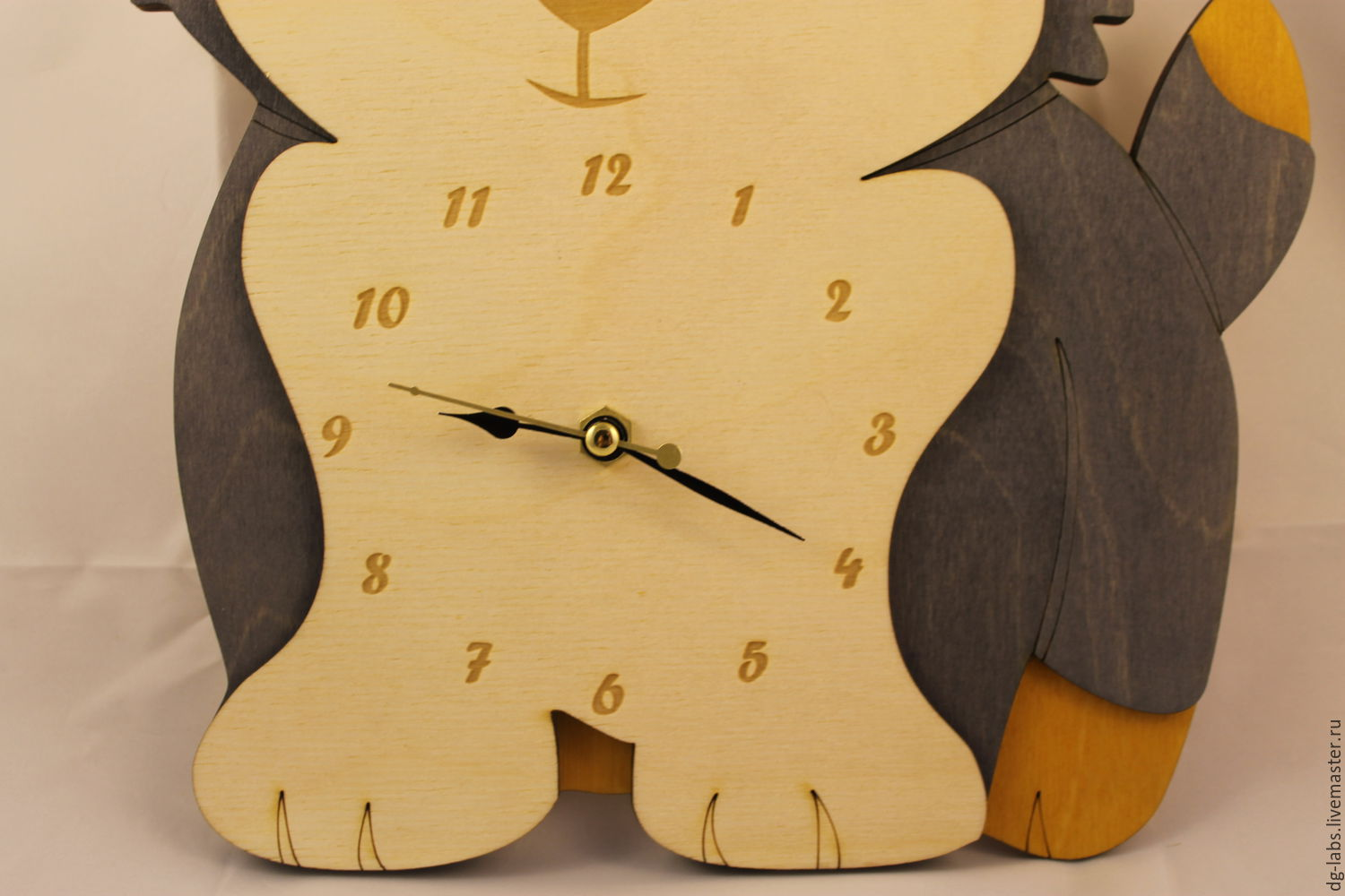 Wall clock Puppy – shop online on Livemaster with shipping ...