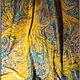 Шали, палантины ручной работы. Шелковый платок, выполненный в технике Эбру (рисунки на воде). Ann Iva (ebru). Интернет-магазин Ярмарка Мастеров.