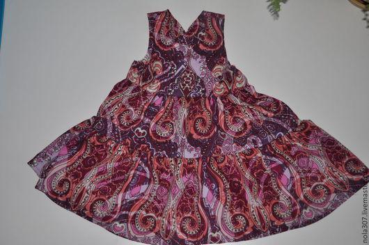 Одежда для девочек, ручной работы. Ярмарка Мастеров - ручная работа. Купить Летнее платье для девочки. Handmade. Брусничный, летнее платье