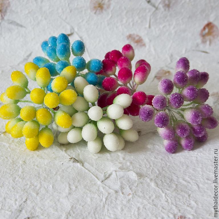 Сахарные ягоды для рукоделия своими руками 13