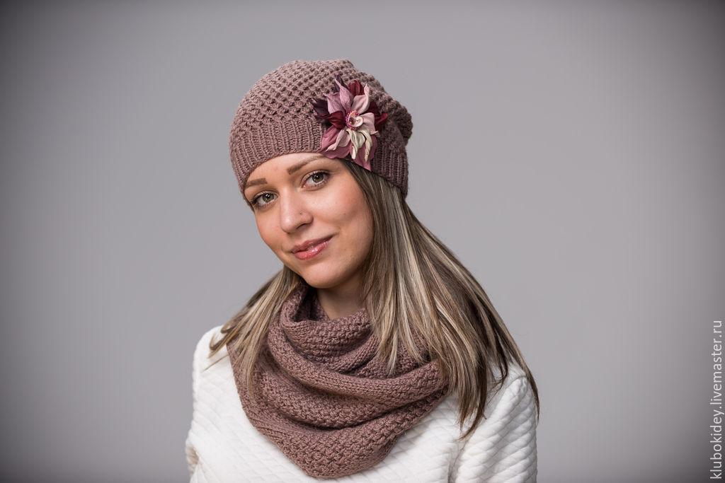 Вязаные шапочки и шарфы своими руками 26