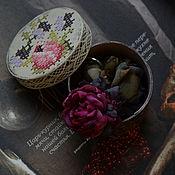 """Украшения ручной работы. Ярмарка Мастеров - ручная работа Акварельное кольцо """"Фуксия и графит"""". Handmade."""