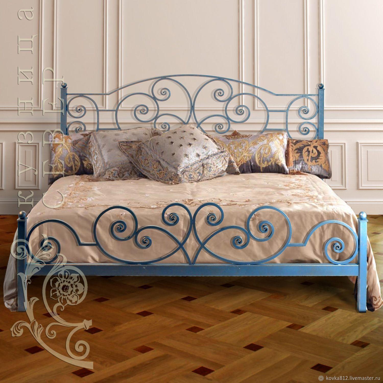Мебель ручной работы. Ярмарка Мастеров - ручная работа. Купить Кованая кровать Лазурь Барокко. Handmade. Кровать, кровать на заказ