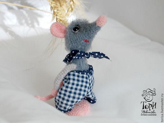 Игрушки животные, ручной работы. Ярмарка Мастеров - ручная работа. Купить Крысотунчик. Handmade. Темно-серый, год крысы, розовый носик
