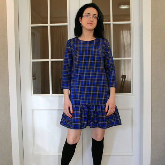 Платья ручной работы. Ярмарка Мастеров - ручная работа. Купить Платье. Handmade. Платье в клетку, короткое платье, на работу