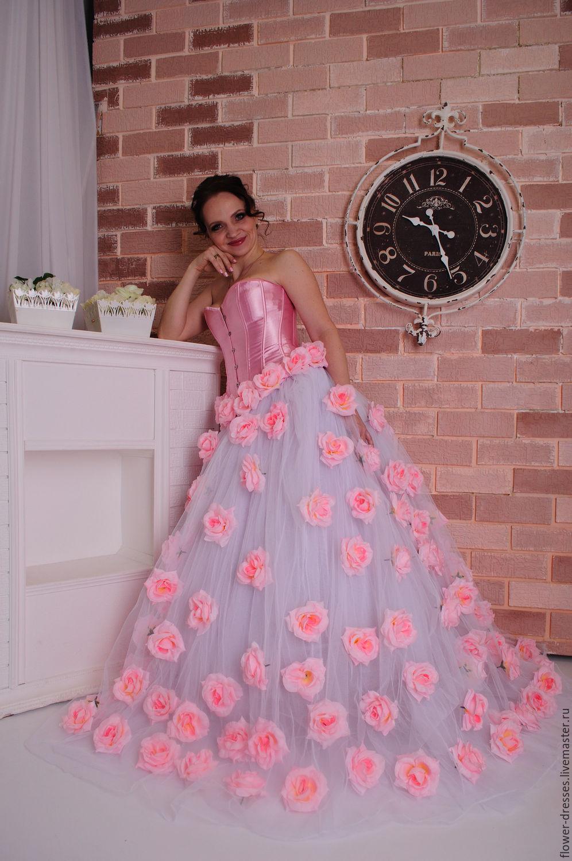 Картинки платьев в розы