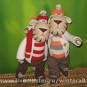 Куклы и игрушки ручной работы. Ярмарка Мастеров - ручная работа тигры(утро после Нового года:)). Handmade.