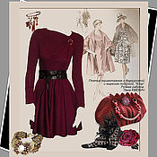 Одежда handmade. Livemaster - original item Short knitted dress with a fluffy skirt