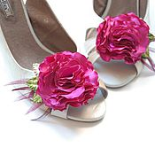 """Украшения ручной работы. Ярмарка Мастеров - ручная работа Клипсы для туфель """"Розовые Кудри"""". Handmade."""