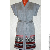 Одежда handmade. Livemaster - original item The cardigan is oversized with a Norwegian ornament. Handmade.