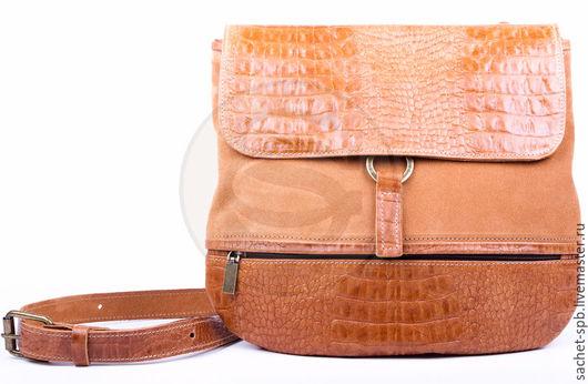 Женские сумки ручной работы. Ярмарка Мастеров - ручная работа. Купить Женская кожаная сумка Коллекшн коричневая. Handmade. Коричневый