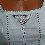 Одежда handmade. Livemaster - original item Linen blouse - top