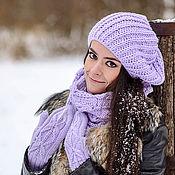 Аксессуары ручной работы. Ярмарка Мастеров - ручная работа Вязаный берет «Герцогиня». Женская свободная шапка. Handmade.