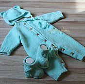 "Работы для детей, handmade. Livemaster - original item Set for the newborn ""Peppermint Bear"". Handmade."