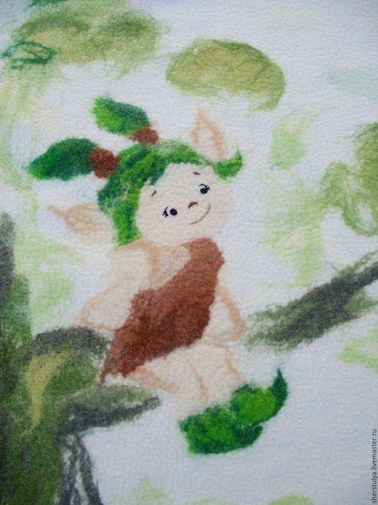 Для новорожденных, ручной работы. Ярмарка Мастеров - ручная работа. Купить Детское валяное одеяло.. Handmade. Детское одеяло