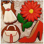 Сувениры и подарки handmade. Livemaster - original item Set gingerbread gift for the woman.Gingerbread on March 8.. Handmade.
