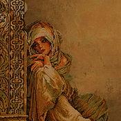 Картины и панно ручной работы. Ярмарка Мастеров - ручная работа Вышивка крестом Арабка (Arabian woman). Handmade.