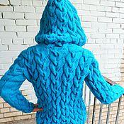 Одежда ручной работы. Ярмарка Мастеров - ручная работа Кофточка на молнии с капюшоном. Handmade.