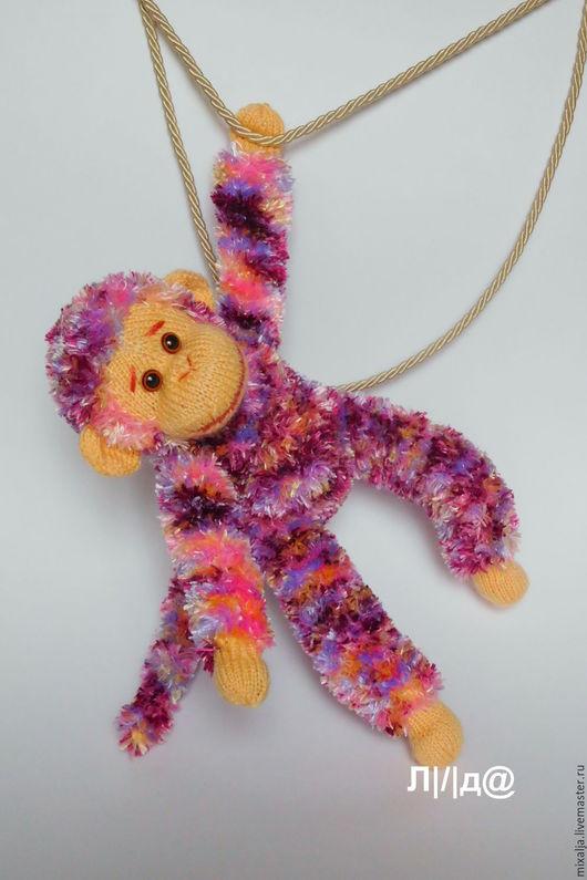 Игрушки животные, ручной работы. Ярмарка Мастеров - ручная работа. Купить обезьяна. Handmade. Символ 2016 года, подарок, сиреневый