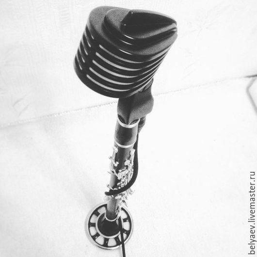Духовые инструменты ручной работы. Ярмарка Мастеров - ручная работа. Купить подставка для микрофона. Handmade. Черный, подставка для микрофона