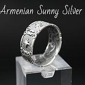 Украшения handmade. Livemaster - original item Men`s Celtic Star Motifs Ring in 925 Silver GV0007. Handmade.