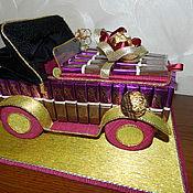 Подарки к праздникам ручной работы. Ярмарка Мастеров - ручная работа Ретро - автомобиль из конфет.. Handmade.
