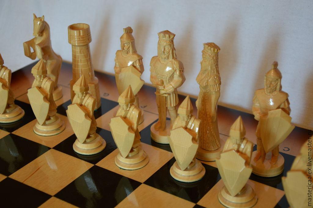 деревянные шахматы ручной работы купить в интернет магазине на