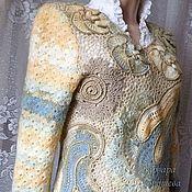 Одежда ручной работы. Ярмарка Мастеров - ручная работа Кружевной вязаный джемпер. Handmade.