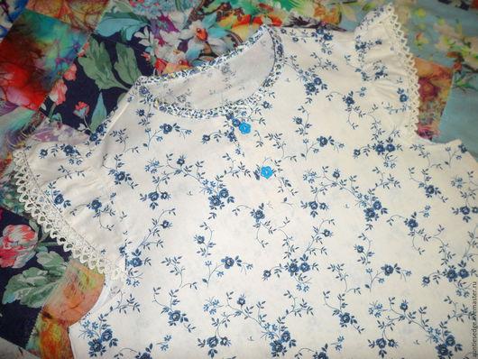 """Одежда для девочек, ручной работы. Ярмарка Мастеров - ручная работа. Купить Ночная рубашка для девочки """"Ленок"""". Handmade. Бежевый"""
