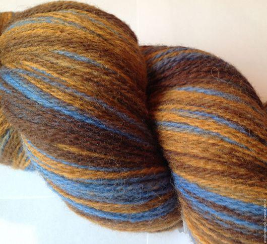 Вязание ручной работы. Ярмарка Мастеров - ручная работа. Купить КАУНИ Brown-blue 8/1 -  8/2. Handmade. Комбинированный, кауни