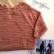 """Одежда ручной работы. Ярмарка Мастеров - ручная работа Пуловер """"Кокетка"""" мерцающий. Handmade."""