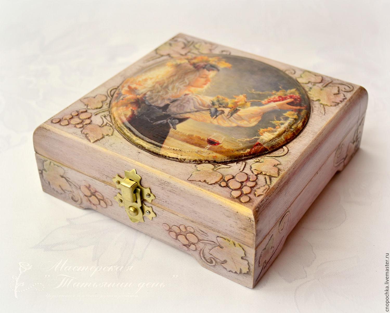 Trinket Boxes handmade. Livemaster - handmade. Buy El estuche para las decoraciones de la vid.