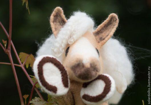 Развивающая перчаточная игрушка лошадка Белогривка