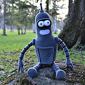 Куклы и игрушки ручной работы. Ярмарка Мастеров - ручная работа Робот Бендер (Футурама, 50 см). Handmade.